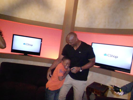 Messin' with Daddy (Eddie George) on Set