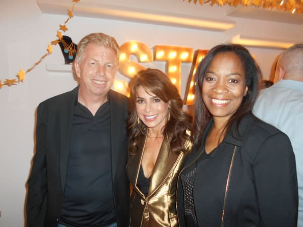 Paula Abdul with Bob & Toli @StarShop Launch Party