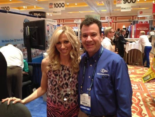 Debbie Gibson & Fan @ CShop Trade Show Appearance