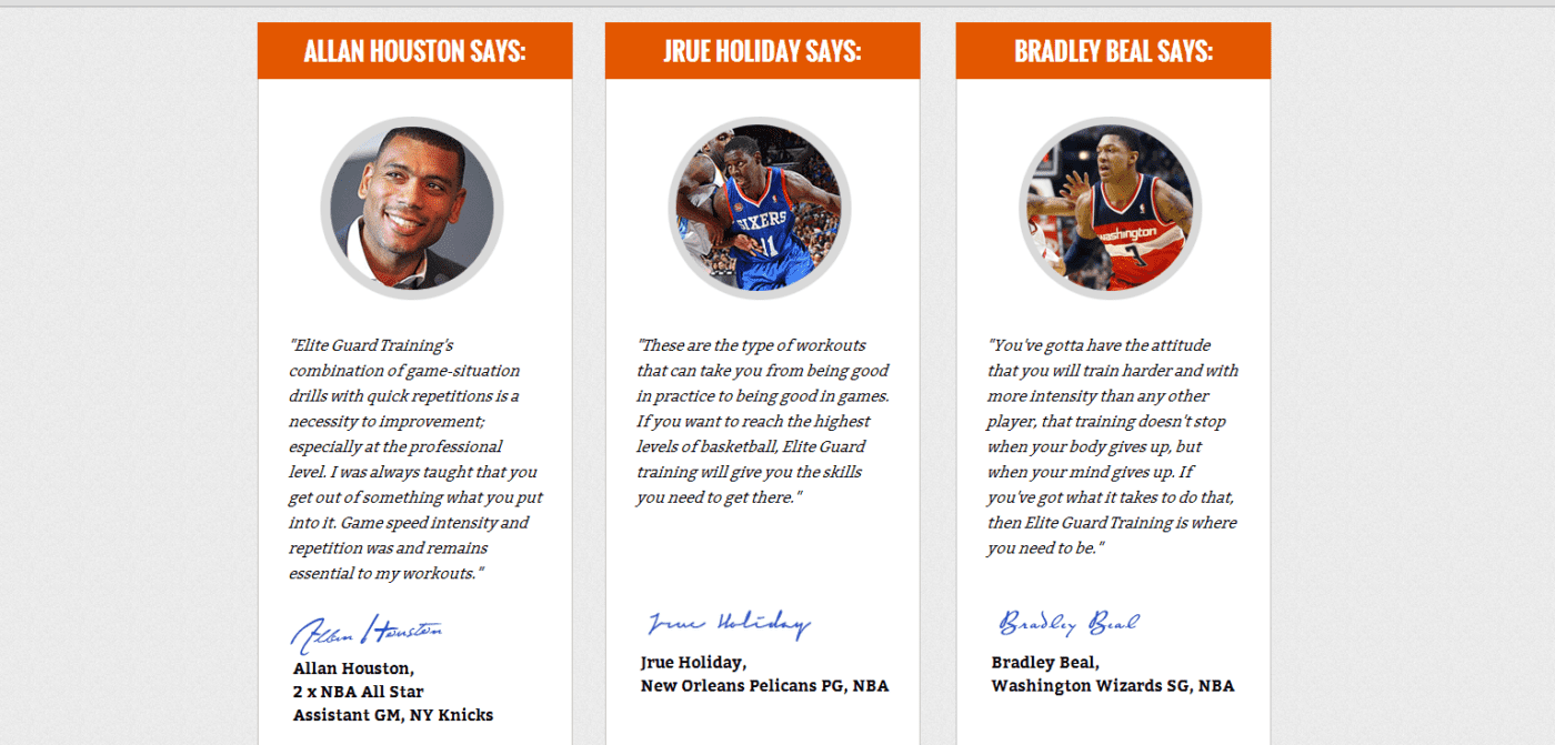 Allan Houston, Jrue Holiday & Bradley Beal Picture & Quote Endorsements