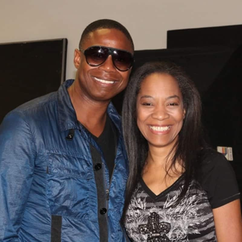 Doug E. Fresh & Toli Back Stage