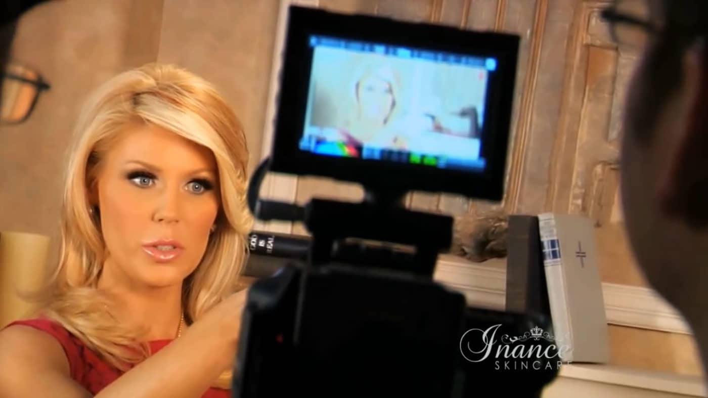 Behind the scenes of the Inance commercial shoot with Gretchen Christine.