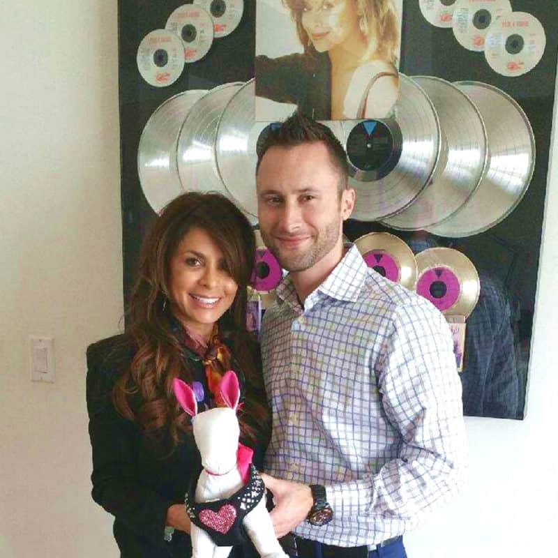 Paula Abdul & Lucky's Leash Founder courtesy of The CShop