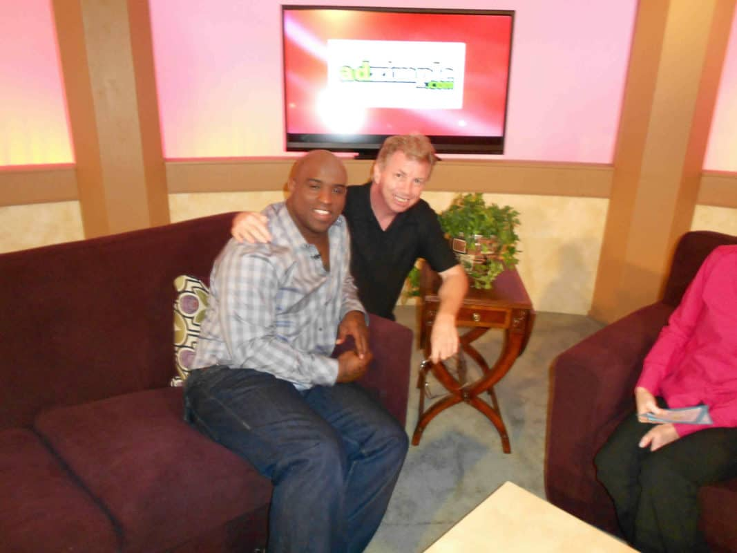 Ricky Williams & Bob on Set
